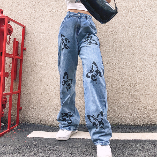 Baggy Jeans Butterfly