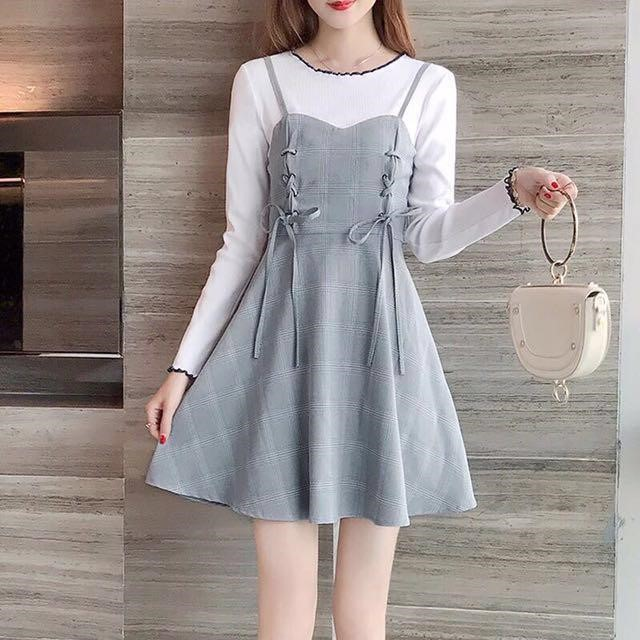 Korean Style Dress Over Top