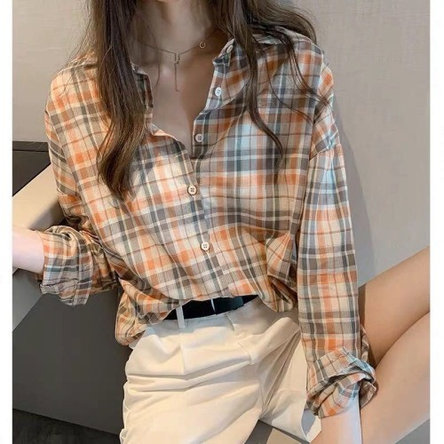 Korean Style Checkered Shirt