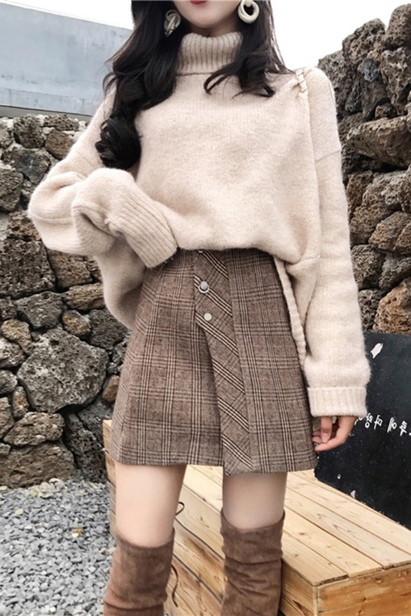 Korean Style Oversized Turtleneck